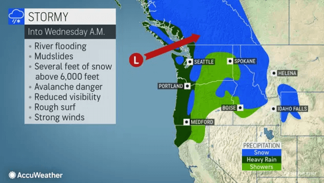 A series of potent storms increase flood risk in Northwest